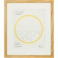 House by John Lewis Wood Photo Frame & Mount, 8 x 10 (20 x 25cm), FSC-Certified (Oak)