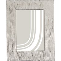 John Lewis & Partners Wave Textured Photo Frame, 5 x 7 (13 x 18cm), Silver