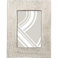 John Lewis Wave Textured Photo Frame, 4 x 6 (10 x 15cm), Silver