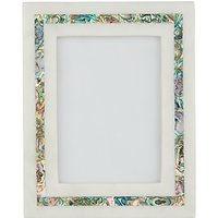 John Lewis & Partners Marble & Mother of Pearl Photo Frame, 5 x 7 (13 x 18 cm), White