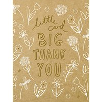 Woodmansterne Ditsy Flower Thank You Card at John Lewis & Partners Department Store