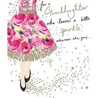 Woodmansterne Girl Floral Dress Card at John Lewis & Partners Department Store