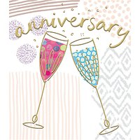 Woodmansterne Champagne Anniversary Card at John Lewis & Partners Department Store