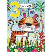 Rachel Ellen Tiger 3rd Birthday Card