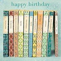 Woodmansterne Vintage Book Birthday Card