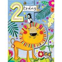 Rachel Ellen Lion 2nd Birthday Card