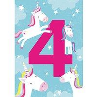 Cardmix Magical Unicorn 4th Birthday Card