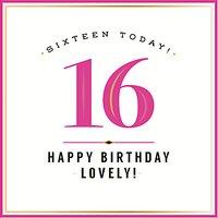 Pigment Sweet Sixteen Birthday Card
