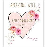 Portfolio Amazing Wife Anniversary Card