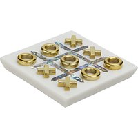 John Lewis & Partners Noughts And Crosses, Gold/White