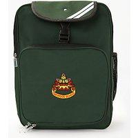 Oakwood School Backpack, Bottle Green