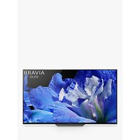 Sony Bravia KD65AF8 OLED HDR 4K Ultra HD Smart Android TV, 65 with Freeview HD, Youview, Acoustic Surface & One Slate Design, Black