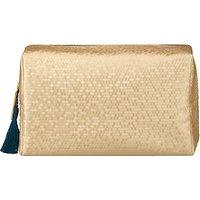 John Lewis & Partners Large Washbag, Honeycomb Gold