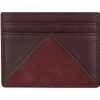 John Lewis & Partners Triangle Card Holder, Mulberry