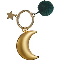 John Lewis & Partners Moon Keyring, Gold