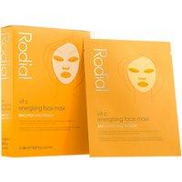 Rodial Vit C Energising Sheet Mask, 4 x 20ml