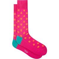 Paul Smith Bright Polka Dot Socks, One Size, Pink