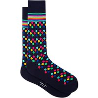 Paul Smith Spotted Socks, One Size, Blue/Multi