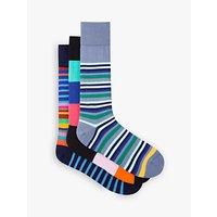 Paul Smith Stripe Socks Gift Set, Pack of 3, Multi