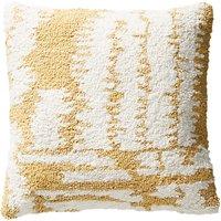Anthropologie Jordana Square Tufted Cushion, Yellow