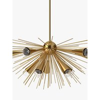 west elm Sputnik Chandelier Ceiling Light, Brass