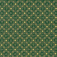 Oddies Textiles Christmas Tree Tile Print Fabric, Green