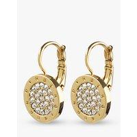 DYRBERG/KERN Avelon Swarovski Crystal Round French Hook Logo Drop Earrings, Gold