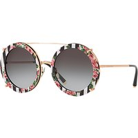 shop for Dolce & Gabbana DG2198 Women's Round Sunglasses, Rose Gold/Multi at Shopo