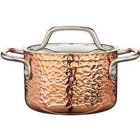 Croft Collection Hammered Copper Tri-Ply Mini Casserole, 10cm