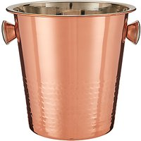 John Lewis & Partners Hammered Stainless Steel Champagne Bucket, Copper