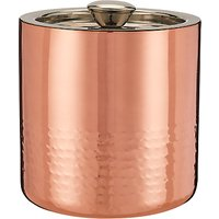 John Lewis & Partners Hammered Stainless Steel Ice Bucket, Copper