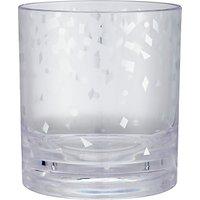 John Lewis & Partners Acrylic Tumbler, 390ml, Clear/Silver