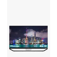 Hisense 65U9A ULED HDR 4K Ultra HD Smart TV, 65 with Freeview Play, Ultra HD Certified, Black/Silver