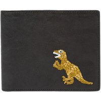 PS Paul Smith Dino Embroidery Bifold Leather Wallet, Black