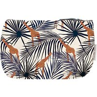 Fenella Smith Giraffe & Palm Make-Up Bag, Small