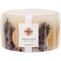 John Lewis & Partners 3 Wick Winter Spice Inclusion Candle, 1525g