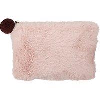 John Lewis & Partners Faux Fur Pouch, Rose Quartz
