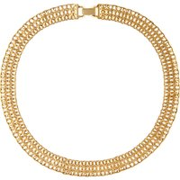 Susan Caplan Vintage Monet 22ct Gold Plated Collar Necklace, Gold