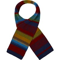 John Lewis & Partners Children's Stripe Knitted Scarf, Multi