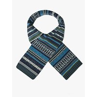 John Lewis & Partners Children's Fair Isle Scarf, Blue