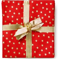 John Louden Christmas Print Fat Quarter Fabrics, Pack of 5, Red/Gold