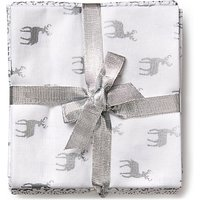 John Louden Christmas Print Fat Quarter Fabrics, Pack of 5, White/Silver