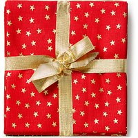 John Louden Christmas Print Fat Quarter Fabrics, Pack of 5, Red/Green