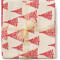 John Louden Scandinavian Christmas Print Fat Quarter Fabrics, Pack of 5, Red/Cream