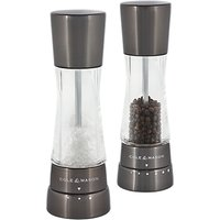 Cole and Mason Derwent Salt and Pepper Gift Set, Gunmetal