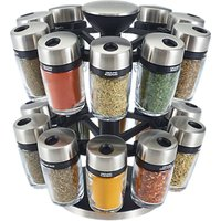 Cole & Mason 20 Jar Filled Spice Rack Carousel