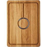 John Lewis & Partners Chopping Board with Meat Carving Ring, FSC-Certified (Oak Wood), L40cm