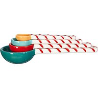 John Lewis & Partners Nesting Candy Stripe Measuring Spoons, Set of 4, Assorted