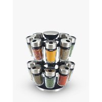 Cole & Mason 16 Jar Filled Spice Rack Carousel