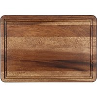 John Lewis & Partners Acacia Wood Chopping Board with Juice Groove, L37cm